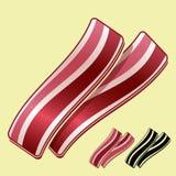 Baconremsor Arkivbild