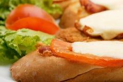 baconrostat bröd Royaltyfri Foto