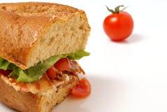 Baconsmörgås royaltyfria foton
