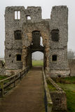 Baconsthorpe Castle, Norfolk, England. An ancient monument in East Anglia, England. A medieval castle on a misty winter`s day stock image