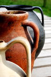 bacs antiques d'extrémité d'amphora Photo libre de droits