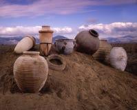 Bacs d'argile Photographie stock