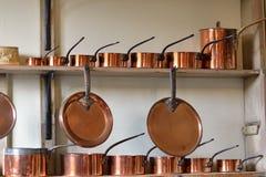 Bacs de cuivre Photographie stock