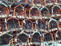 Bacs de langoustine à Brighton image stock