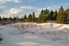 Bacs de peinture de Yellowstone Photos stock