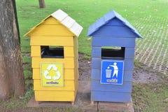 Bacs de recyclage Images libres de droits