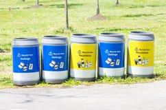 Bacs de recyclage. Image libre de droits