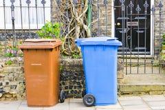 Bacs de recyclage Photos libres de droits