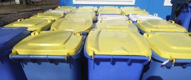 Bacs de recyclage, Brême, Allemagne Image libre de droits