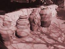 Bacs de terre ethniques Photos stock