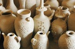 Bacs et vases d'argile Photos libres de droits
