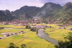 Bacson Valley in Vietnam Royalty Free Stock Photo