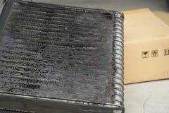 Bactéries de difficulté de dommages de voiture d'automobile d'état d'air de bobine image stock