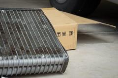 Bactéries de difficulté de dommages de voiture d'automobile d'état d'air de bobine images libres de droits