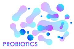 Bactéries EPS10 de Probiotics illustration stock