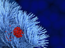 Bacteriën op tracheecellen Royalty-vrije Stock Afbeeldingen