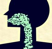 Bacteriën in spijsverteringssysteem Royalty-vrije Stock Afbeelding