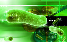 Bacteria. Digital illustration of bacteria in 3d on digital background stock illustration