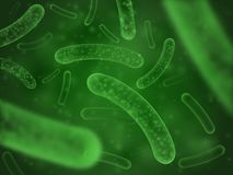 Free Bacteria Biological Concept. Micro Probiotic Lactobacillus Green Scientific Abstract Background Stock Photography - 127497482