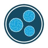 Bacteria blue icon. vector  Stock Images