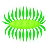 Bacteria centipede icon, cartoon style Stock Photography