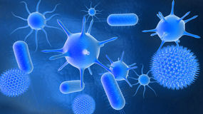 Bacteria. 3D illustration of bacteria background Stock Photo