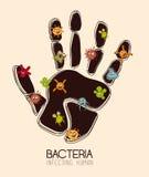Bacteria design Royalty Free Stock Image