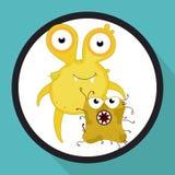 Bacteria design Stock Image