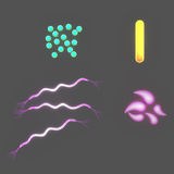 Bacteria of different shapes Stock Images