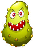 Bacteria with monster face Royalty Free Stock Photo