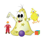 Bacteria is playing with toys Royalty Free Stock Photography