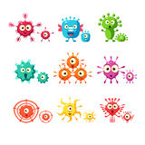 Bacteria And Virus Fun Collection Royalty Free Stock Photo