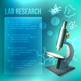 Bacteria and virus lab research Stock Photo