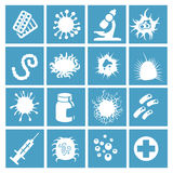 Bacteria, virus and micro organisms Royalty Free Stock Photography