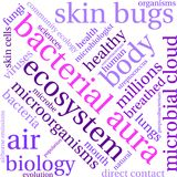 Bacterial Aura Word Cloud. On a white background Stock Image