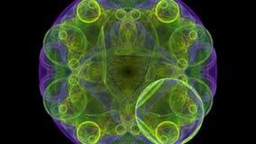 Bacterias bajo el microscopio ilustración del vector