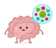 Bacterias maus microscópicos microflora, vírus ilustração stock