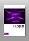 Bacterias púrpuras de la luminiscencia con el flagelo, la membrana y el núcleo Foto de archivo