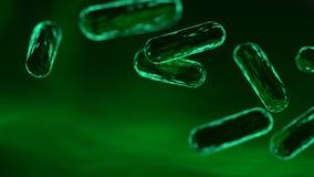 Bacterias verdes representación 3d fotos de archivo libres de regalías