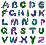 Bacterium alphabet. Vector bacterium alphabet on a white background Royalty Free Stock Image