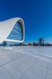 BACU 27 DICEMBRE: Heydar Aliyev Center sopra Fotografie Stock
