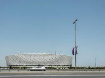 BACU - 10 MAGGIO 2015: Baku Olympic Stadium maggio Immagine Stock Libera da Diritti