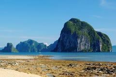 Bacuit海湾(El Nido,菲律宾) 免版税库存图片