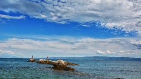 Bacvice海滩-分裂Croatiania 图库摄影
