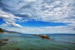 Bacvice海滩-分裂Croatiania 免版税库存照片