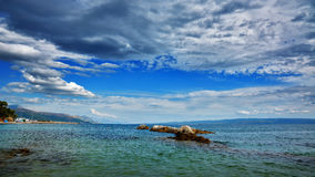 Bacvice海滩-分裂Croatiania 免版税库存图片