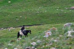 Bacy blisko Xinaliq, Azerbejdżan, daleka górska wioska w Wielkim Kaukaz pasmie Obrazy Stock