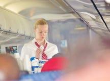 Baczne stewardesa amerykanina linie lotnicze Zdjęcie Royalty Free