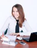 baczny bizneswomanu dokumentu podpisywanie Zdjęcia Stock