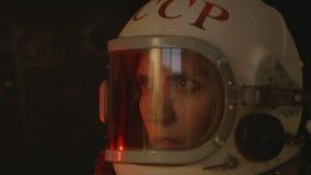 Baczny Żeński kosmonauta zdjęcie wideo